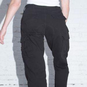 Brandy Melville Piper Worker Pants High Waist BLK